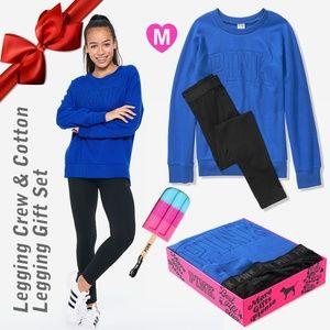 PINK Legging Crew & Cotton Legging Gift Set M